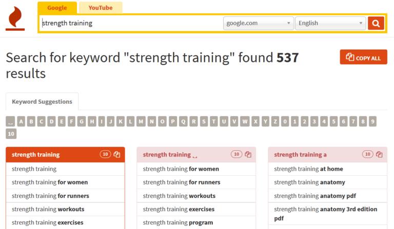 谷歌英文关键词工具:KeywordTool.io讲解