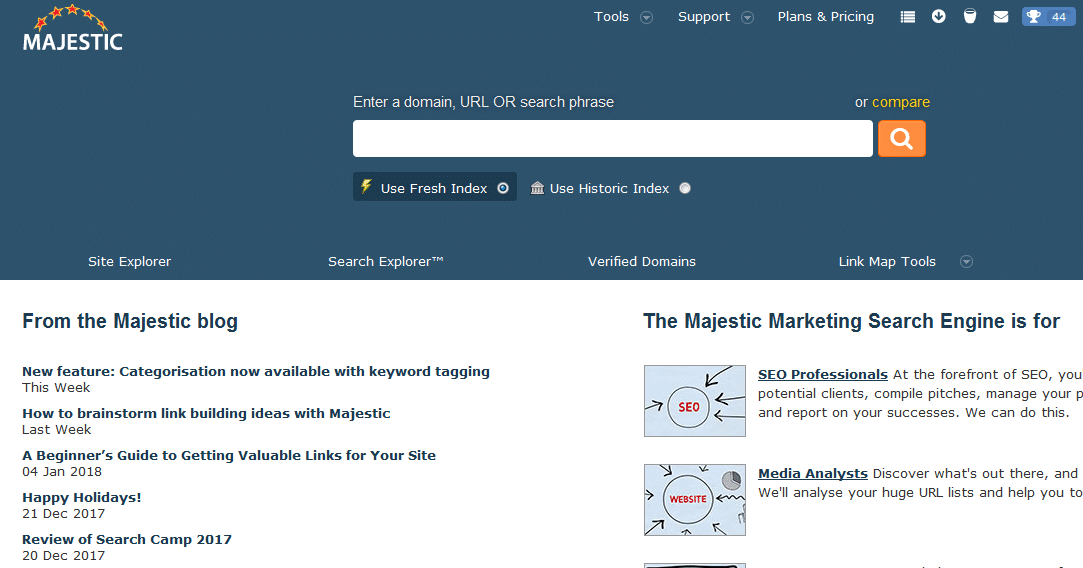 Majestic SEO工具简介+学习指导