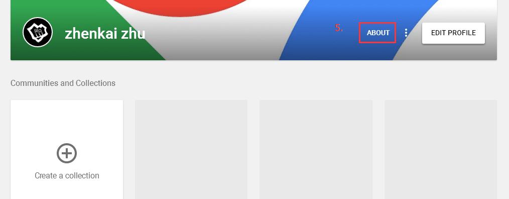 Google+ profile外链操作教程
